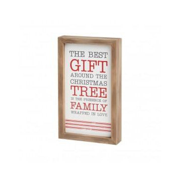 Best Gift Striped Framed Sign