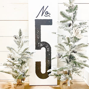 Numbered Canvas Signs