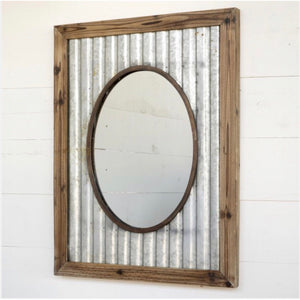 Framed Tin Mirror