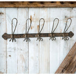 Black Distressed Wire Coat Hanger