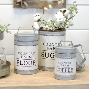 Country Farm Canister Set