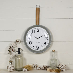 Metal Pan Clock