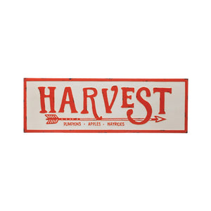 Harvest Enameled Sign