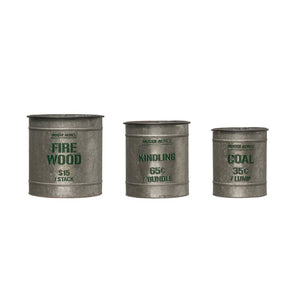 Galvanized Fire Wood Metal Buckets