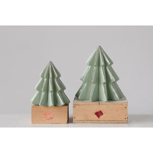 Mint Stoneware Tree
