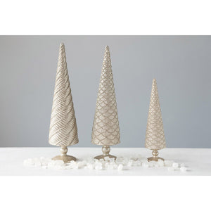 Champagne Embossed Trees