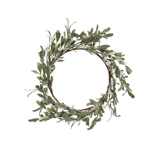 White Berry Sugared Wreath