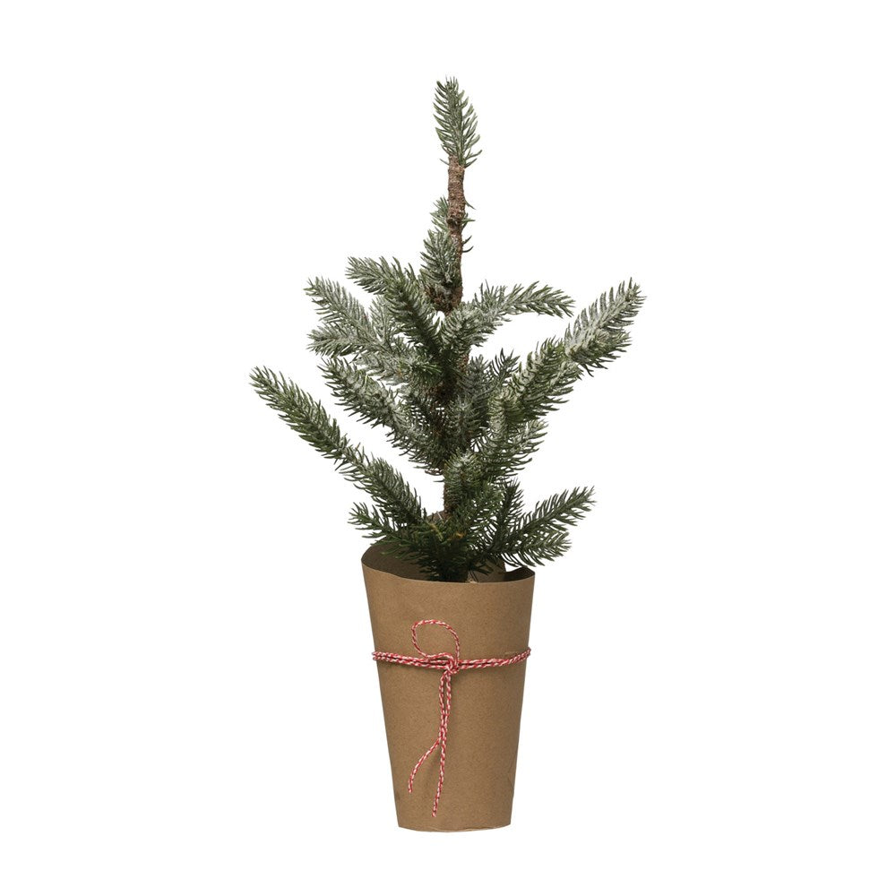 Faux Fir Tree in Paper Pot