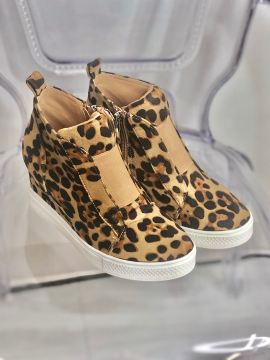 The Zoey Sneaker In Leopard