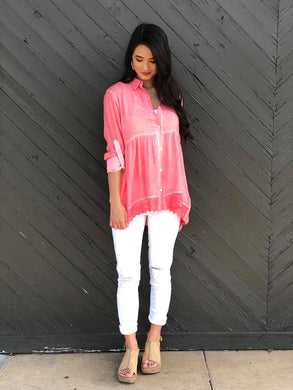 Elana Button Down Top