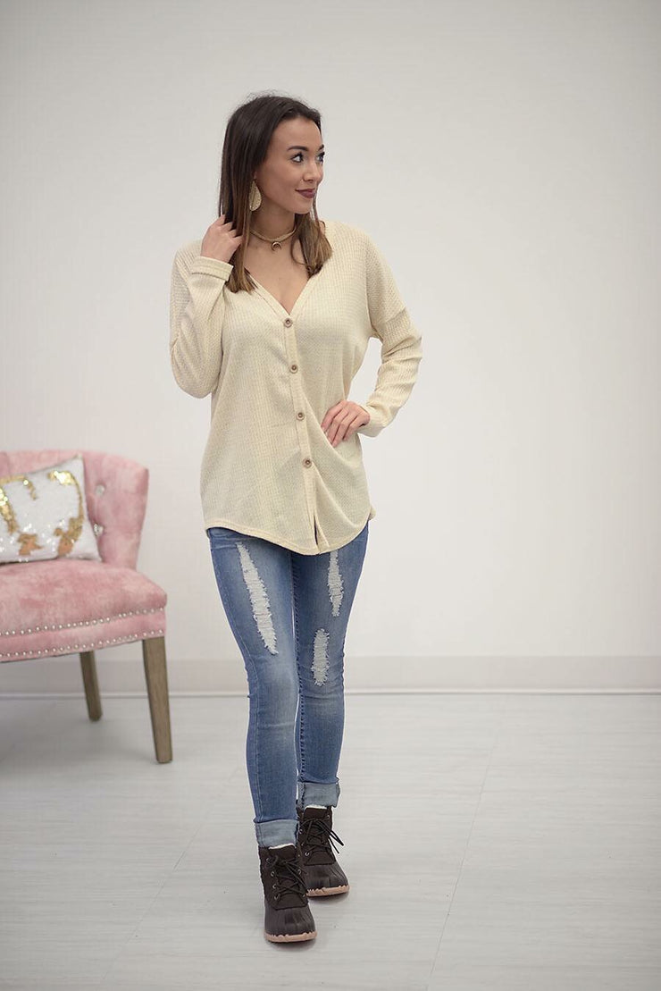 Hooked On Thermal Top in Oatmeal