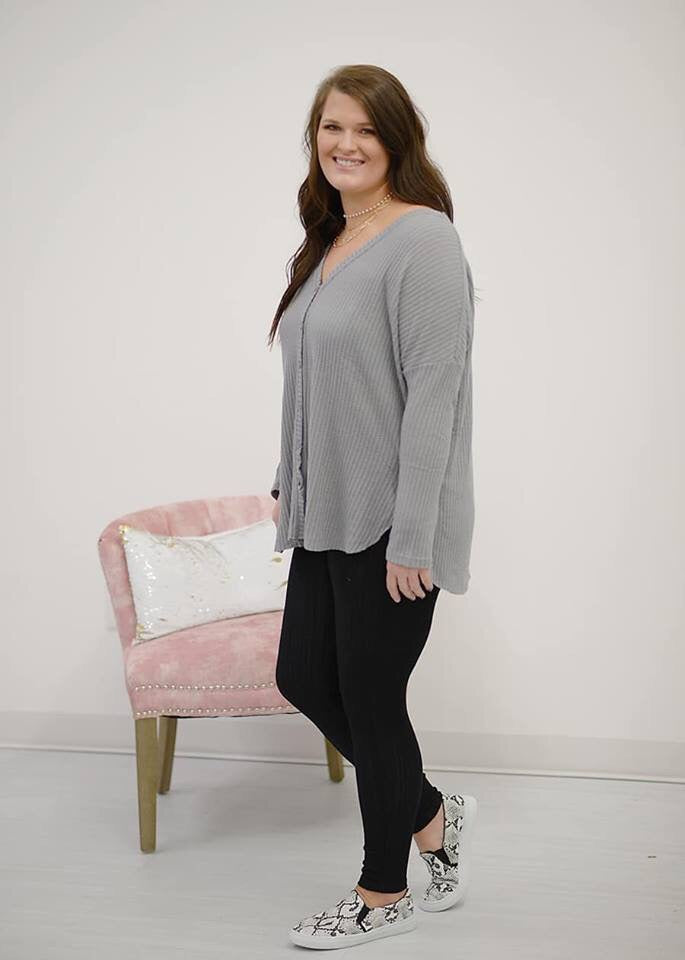 Avery Thermal Top in Grey