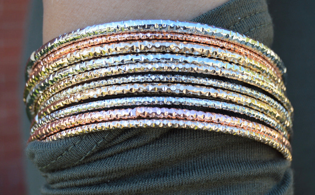 Stacked Metal Bracelets