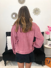 Who Runs The World Jacket In Mauve