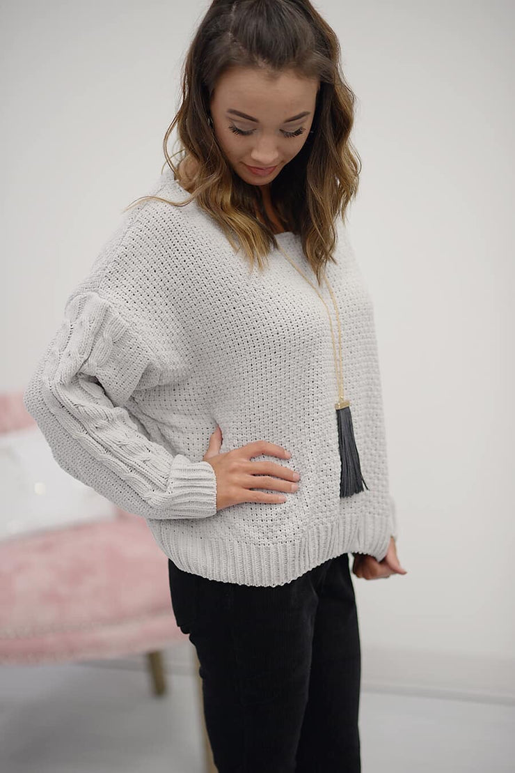 Snuggle Up Sweater in Cloud