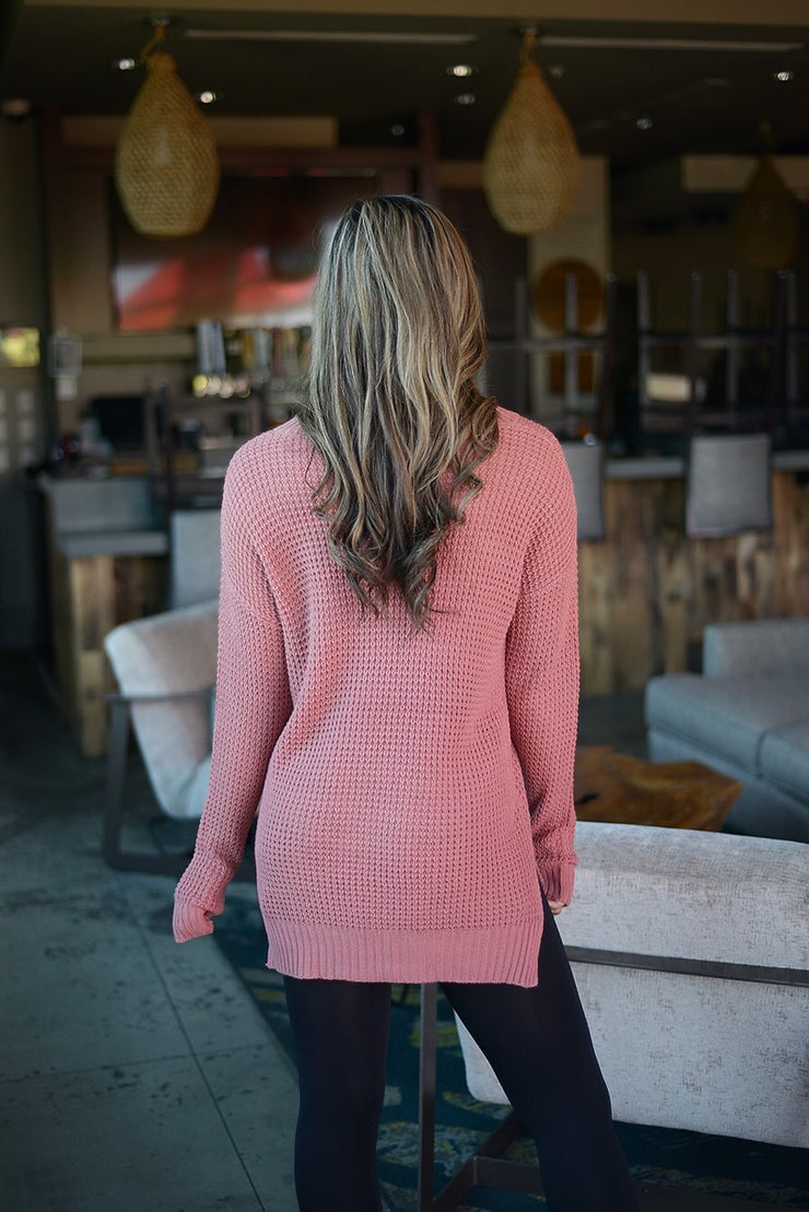 Saturday Mornings Top In Dusty Rose