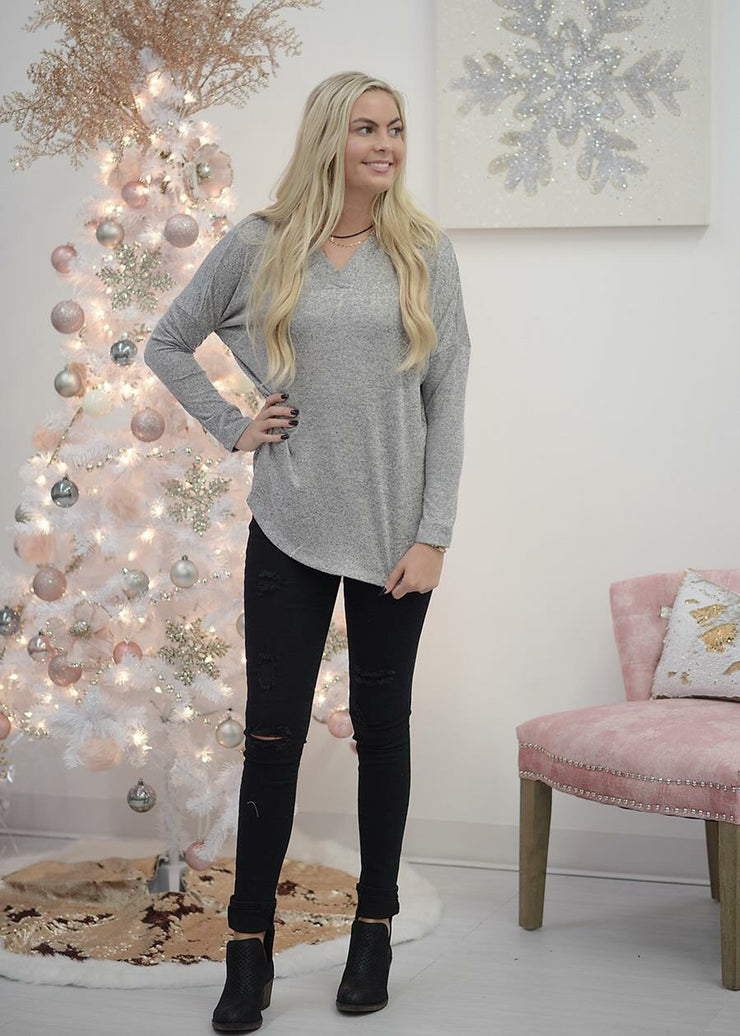 Electricity Tunic Heather Grey