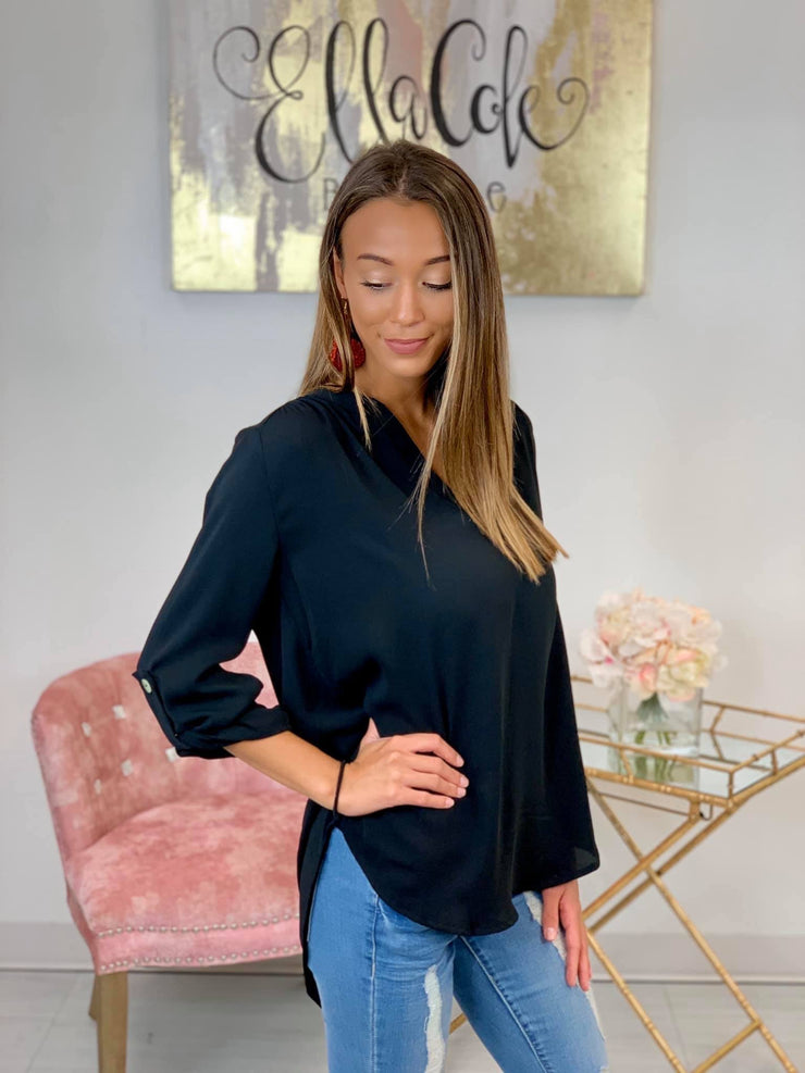 Found Love Top in Black