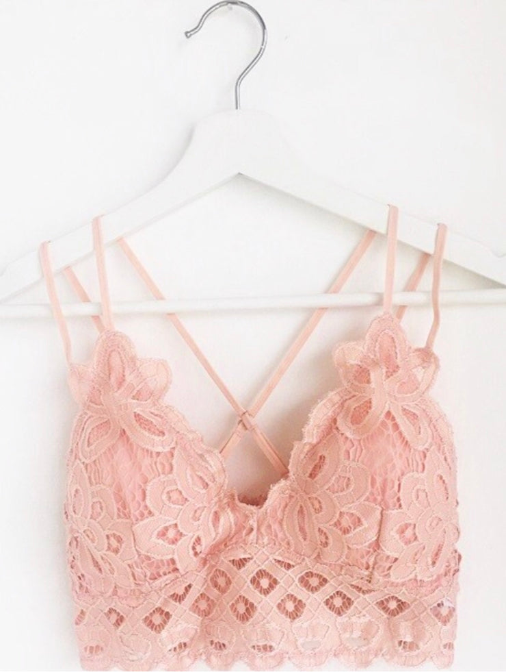 Boho Bralette's In Mellow Rose