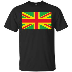 Union Jack With Rasta Flag Colors