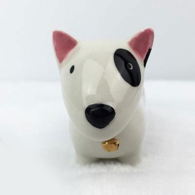Bull Terrier Ceramic Mini Ornament Statue
