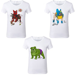 Bull Terrier French English Bulldog Marvel Character Women's T-Shirt