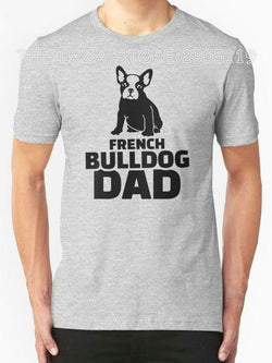 Black French Bulldog Dad Text Men's T-Shirt
