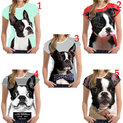 Boston Terrier Full Size Portrait Women's T-Shirt