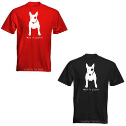 Cartoon Bull Terrier Made in England Men's T-Shirt