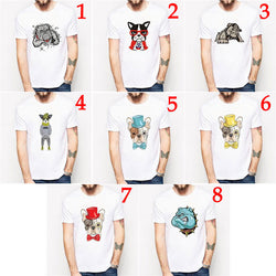 English French Bulldog Colorful Cartoon Design Men's T-Shirt