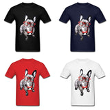 French Bulldog Red Glasses Bow Tie Men's T-Shirt