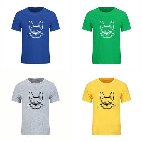 French Bulldog Laying Down Outline Drawing BGGY T-Shirt