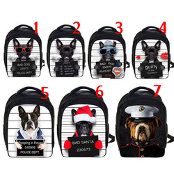 French Bulldog Funny Mug Shot Backpack