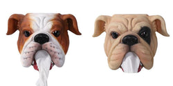 English Bulldog Head Mouth Tissue Toilet Paper Holder