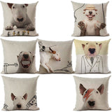 Bull Terrier Background Outline Sketch Pillowcase