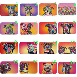 Colorful Pit Bull Painting Drawing Doormat