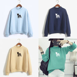 French Bulldog Silhouette Mama Crew Neck Sweatshirt