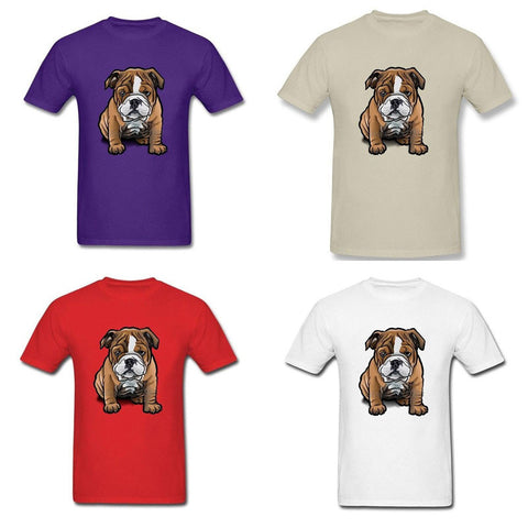 Brown French Bulldog Puppy Watercolor Men's T-Shirt