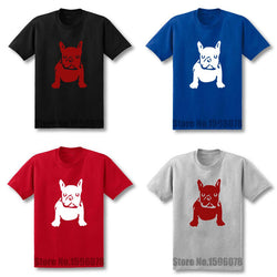 French Bulldog Shaped Solid Color Men's T-Shirt