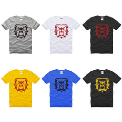 Mad Angry Bulldog Spike Collar Outline Men's T-Shirt