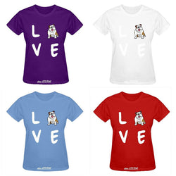 English Bulldog L O V E Women's T-Shirt
