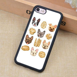 French Bulldog Head and Bread Phone Case for iPhone