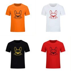 French Bulldog Laying Down Outline Drawing BORW T-Shirt