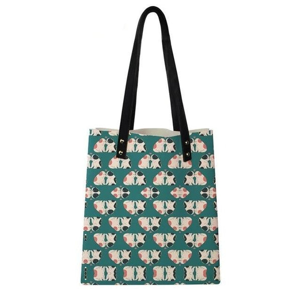 English Bulldogs Kissing Shoulder Bag