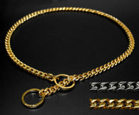 Thin Link Chain Dog Collar