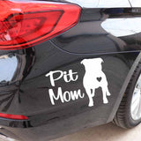 Pit Mom Pit Bull Silhouette Sticker