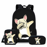Dabbing Light Tan French Bulldog Bag/Backpack Combo