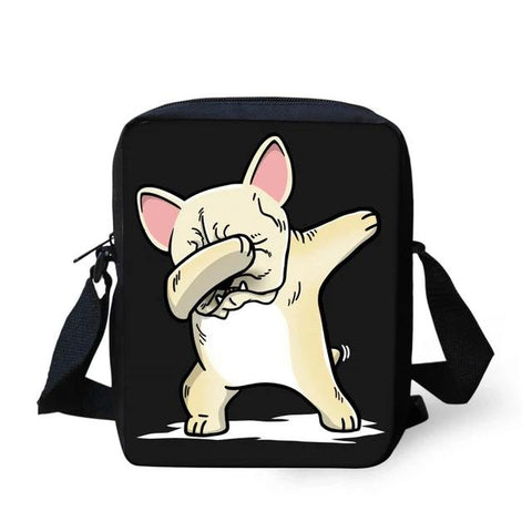Dabbing Light Tan French Bulldog Shoulder Bag