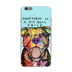 Happiness is a Pit Bull Smile Phone Case for iPhone