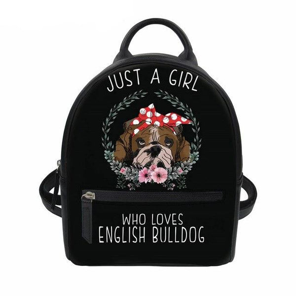 Just A Girl Who Loves English Bulldog Mini Backpack